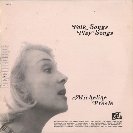[Pochette de Folk songs - play songs (Micheline PRESLE)]