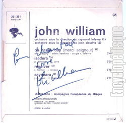 [Pochette de Oh happy day (merci Seigneur) (John WILLIAM) - verso]