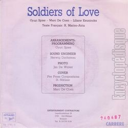 [Pochette de Soldiers of love (Liliane SAINT PIERRE) - verso]